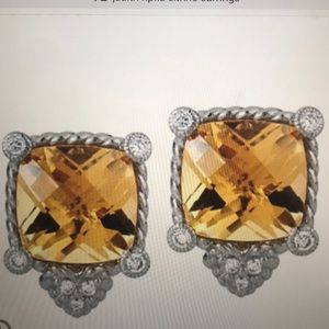 Judith sterling citrine Earrings
